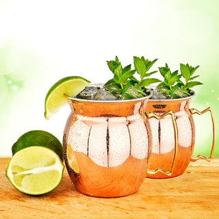 2 Pc. Solid Copper/Stainless Steel Moscow Mule Mugs