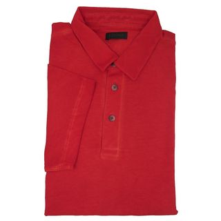 Z Zegna Distressed Red Polo T-shirt