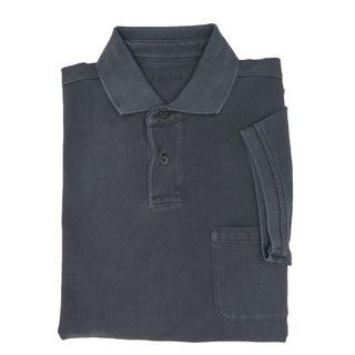 Z Zegna Charcoal Pique Polo T-shirt