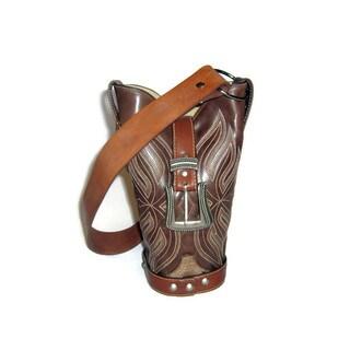 Brown Cowboy Boot Handbag