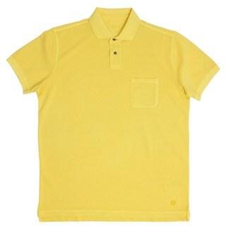 Z Zegna Yellow Pique Polo T-shirt