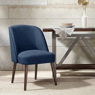 """Madison Park Larkin Rounded Back Dining Chair 2-Color Option - 22.25""""w x 24.5""""d x 34.6""""h"""