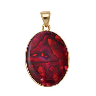 Handmade Alchemia Red Abalone Pendant (Mexico)