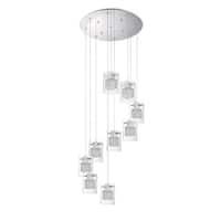 Politan Series Chrome 9-Light Pendant Pan