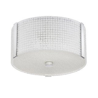 Glacier Series Chrome 12-inch 3-light Convertible Flush or Semi-flush Fixture