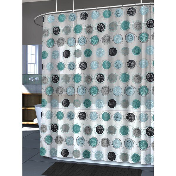 Splash Home Iota Silver Shower Curtain