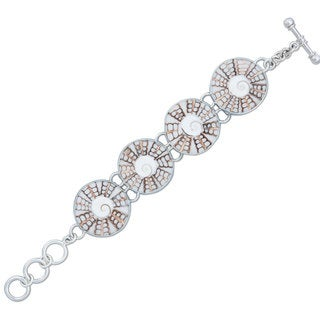 Handmade Sterling Silver Spiral Shell Bracelet (Mexico)