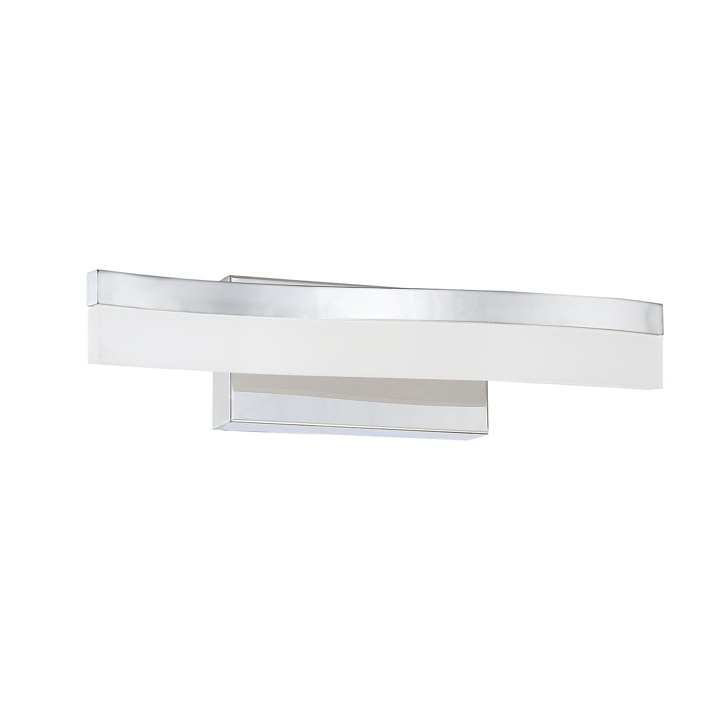 Cerv Series White Acrylic And Chrome 18 Inch Led Vanity Light Overstock 15649790