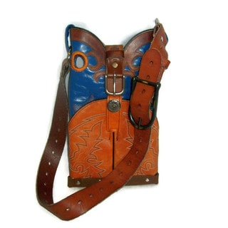 Small Blue and Orange Conceal Carry Shoulder Bag