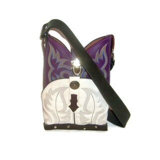 Small Purple Conceal Carry Shoulder Bag