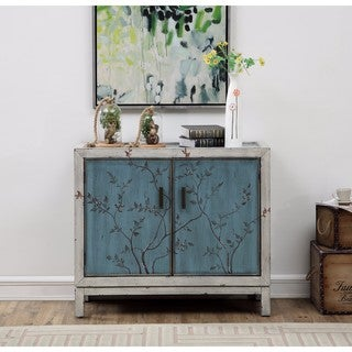Spring Garden Blue And White Textured Two Door Cabinet