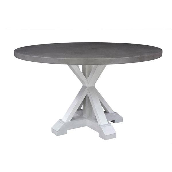 Shop Palisade Grey/White Finish Wood Round Dining Table ...