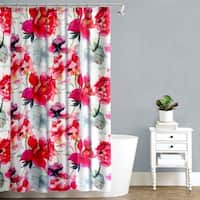 Splash Home Touch of Rose Pink Floral Fabric Shower Curtain