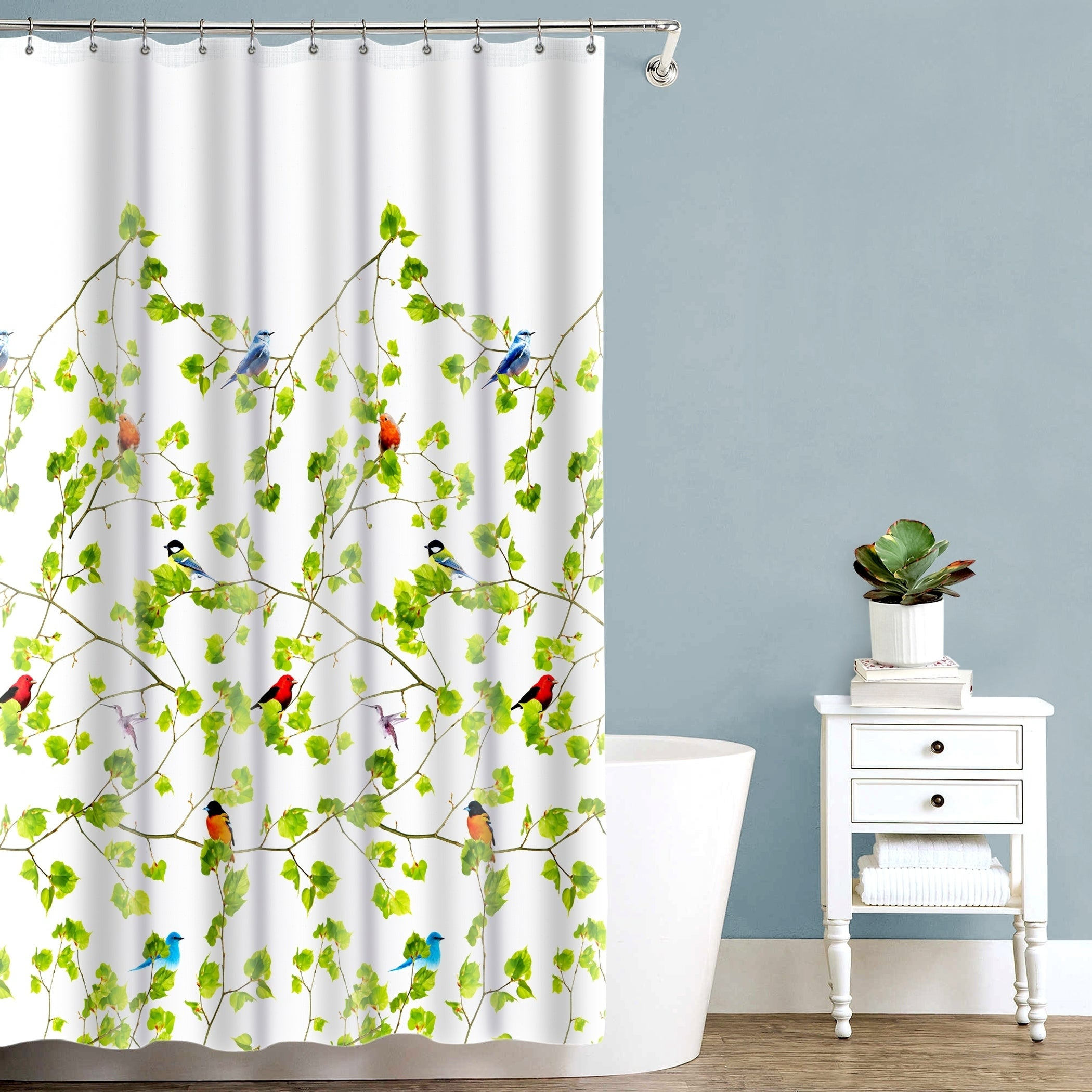 Splash Home Terrasse Botanical Fabric Shower Curtain