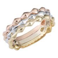 Fremada 14k Tricolor Gold Triple Band Ring