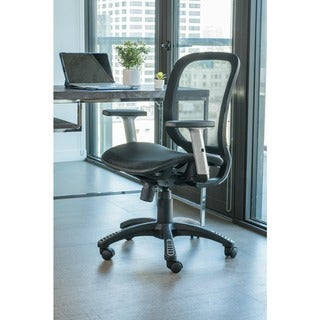 ErgoMax Office Fully Meshed Ergonomic Height Adjustable Black Office Chair w/Armrests, 42 Inch Max Height
