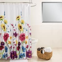 Splash Home Prisma Floral Fabric Shower Curtain