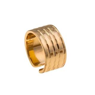 Handmade Alchemia Lined Mid Finger Ring (Mexico)