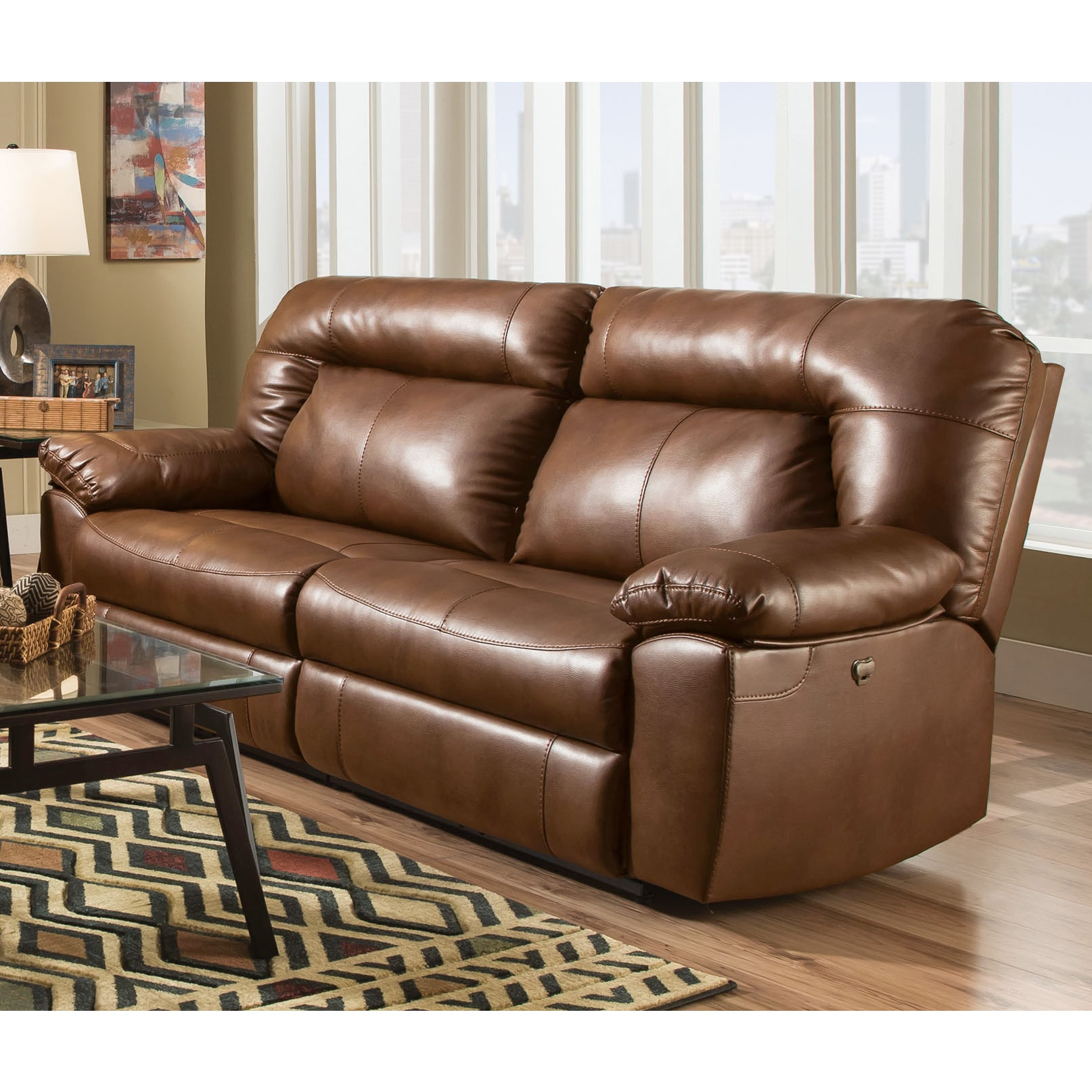 90 Inch Two Seat Dual Reclining Sofa