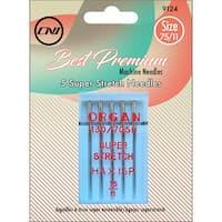 Super Stretch Needles 5/Pkg-Size 75/9