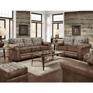 American Furniture Classics Four Piece Set In Deer Teal Lodge Including  Sofa, Loveseat, Chair