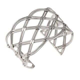 Handmade Sterling Silver Woven Cuff (Mexico)