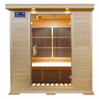 Evansport 2-person Hemlock Sauna with Carbon Heaters