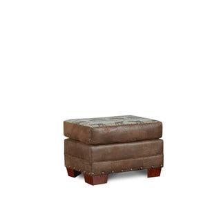 American Furniture Classics Deer Teal Tapestry Lodge Ottoman
