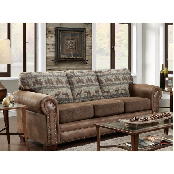 Shop American Furniture Classics Sofa In Deer Teal Lodge