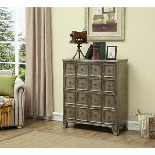 Ashton Metallic Four Drawer Two Door Cabinet
