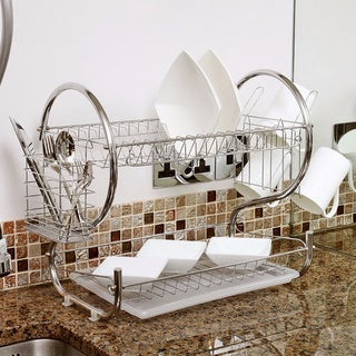 2-Tier Chrome Dish Drainer Rack