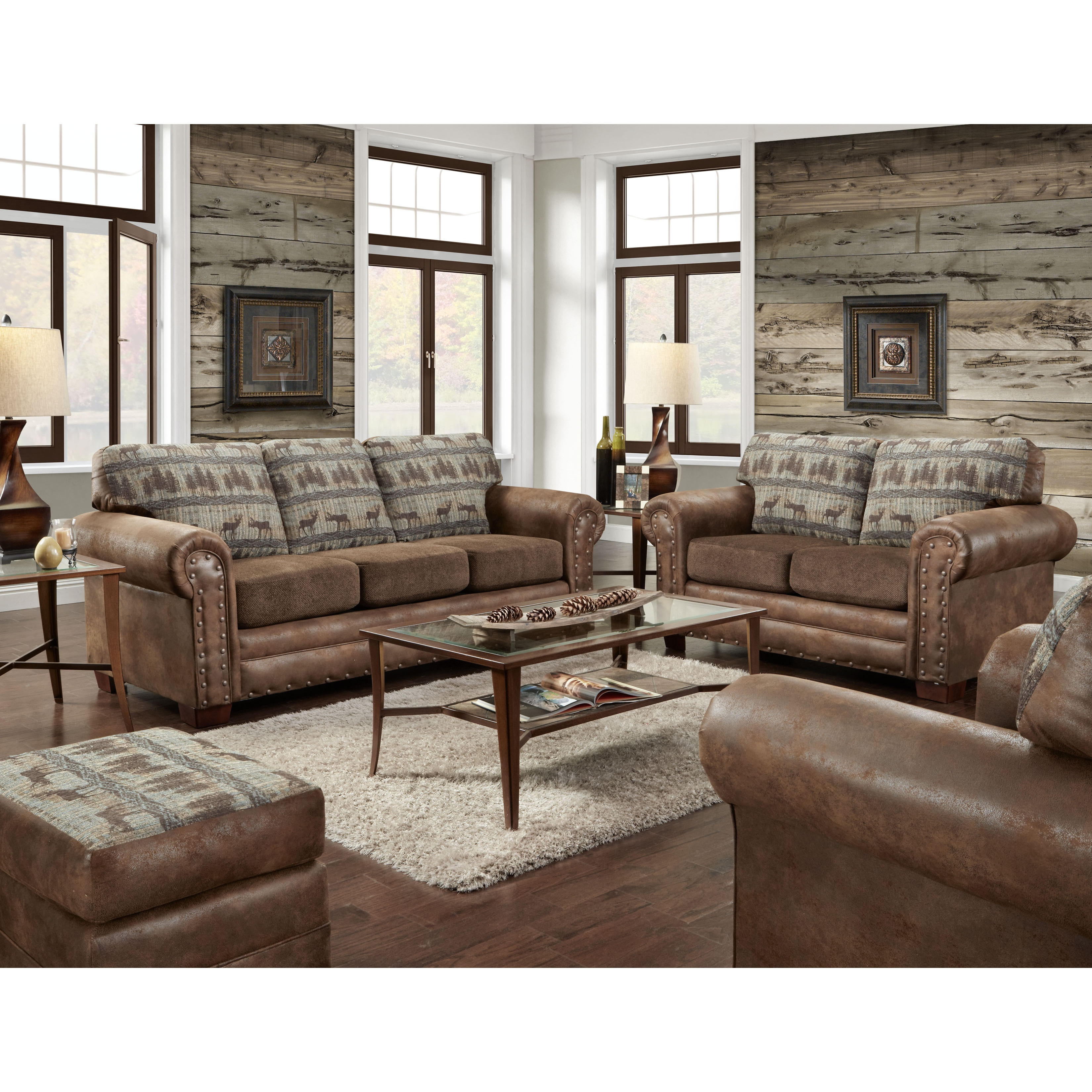 Shop American Furniture Classics Four Piece In Deer Teal Lodge On