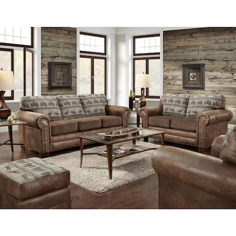 American Furniture Classics Four Piece in Deer Teal Lodge