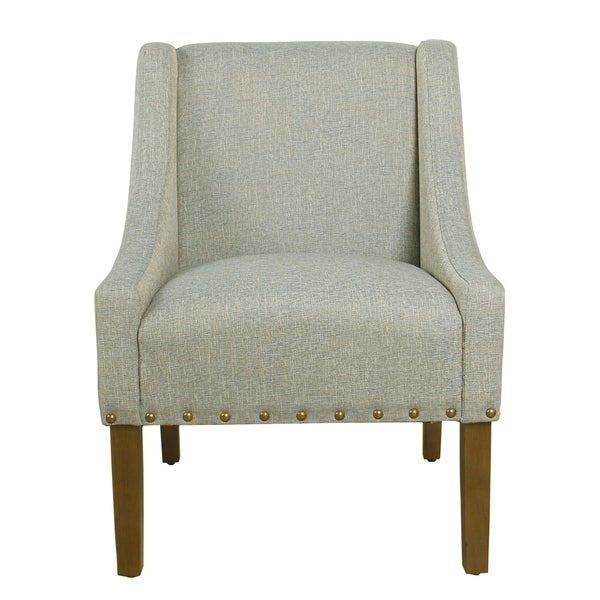 Shop HomePop Modern Swoop Accent Chair With Nailhead Trim