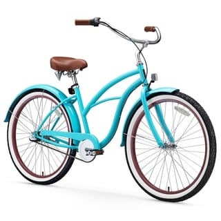 "26"" sixthreezero Teal Three Speed Beach Cruiser Women's Bicycle, Teal"