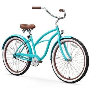 "26"" sixthreezero Teal Single Speed Beach Cruiser Women's Bicycle, Teal"
