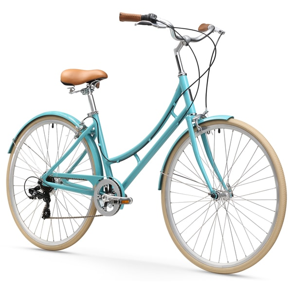 "26"" sixthreezero Ride in the Park 7-Speed Touring City Beach Cruiser Women's Bicycle, Blue"