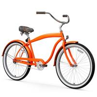 "26"" sixthreezero Mammoth Single Speed Beach Cruiser Men's Bicycle Bicycle, Orange"