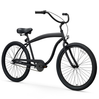 "26"" sixthreezero In The Barrel Three Speed Beach Cruiser Men's Bicycle, Matte Black"