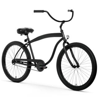 "26"" sixthreezero In The Barrel Single Speed Beach Cruiser Men's Bicycle, Matte Black"