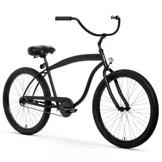 "26"" sixthreezero In The Barrel Single Speed Beach Cruiser Men's Bicycle, Matte Black https://ak1.ostkcdn.com/images/products/15672593/P22098554.jpg?impolicy=medium"