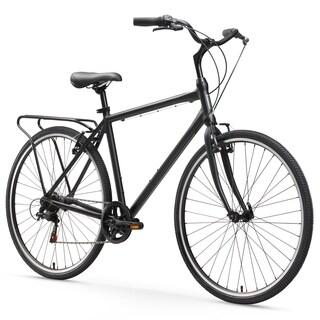 "26"" sixthreezero Explore Your Range Seven Speed Hybrid Commuter Men's Bicycle, Matte Black"