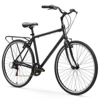 "26"" sixthreezero Explore Your Range Seven Speed Hybrid Commuter Men's Bicycle, Matte Black|https://ak1.ostkcdn.com/images/products/15672651/P22098557.jpg?impolicy=medium"