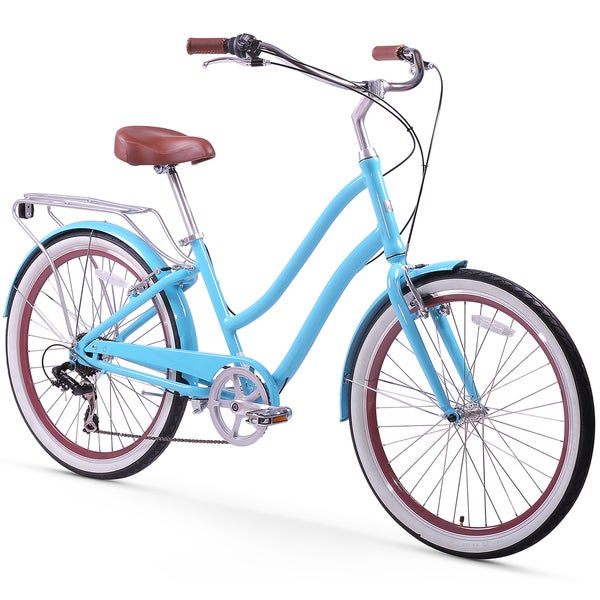 "26"" sixthreezero EVRYjourney Seven Speed Step-Through Touring Women's Hybrid Bicycle, Teal"
