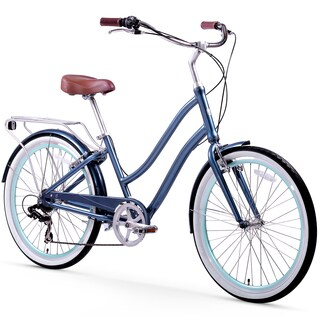 "26"" sixthreezero EVRYjourney Seven Speed Step-Through Touring Hybrid Women's Bicycle, Navy"