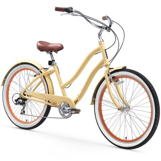 "26"" sixthreezero EVRYjourney Seven Speed Step-Through Touring Hybrid Women's Bicycle, Cream"