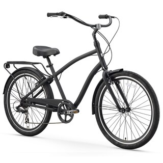 "26"" sixthreezero EVRYjourney Seven Speed Sport Hybrid Men's Cruiser Bicycle, Matte Black"