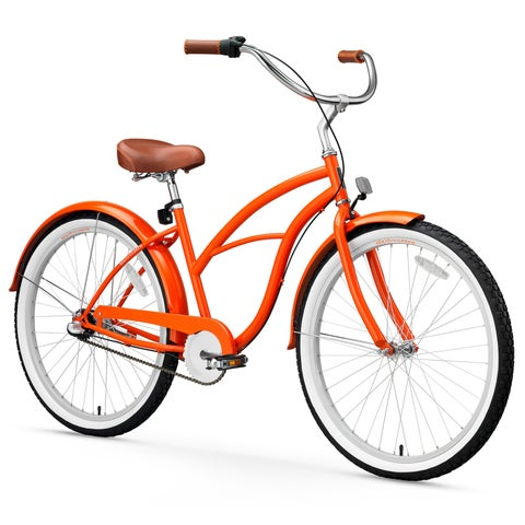 "26"" sixthreezero Dreamcycle Three Speed Beach Cruiser Women's Bicycle, Glossy Orange"