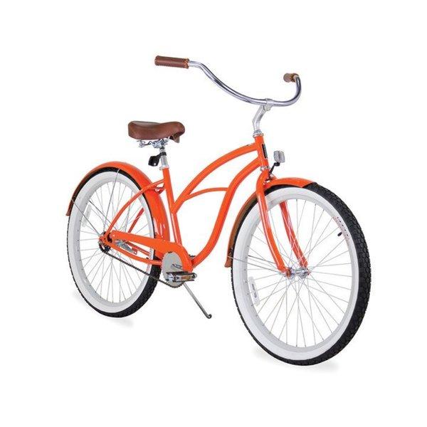 "26"" sixthreezero Dreamcycle Single Speed Beach Cruiser Women's Bicycle, Glossy Orange"