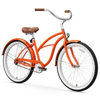 "26"" sixthreezero Dreamcycle Single Speed Beach Cruiser Women's Bicycle, Glossy Orange"